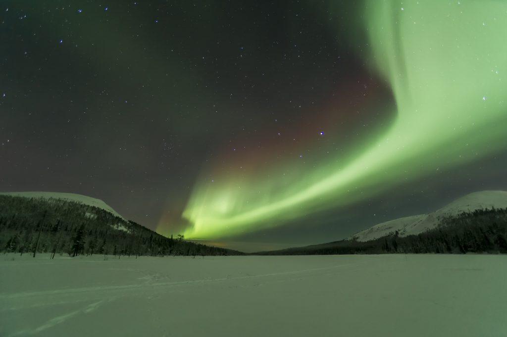 Northern lights at national park